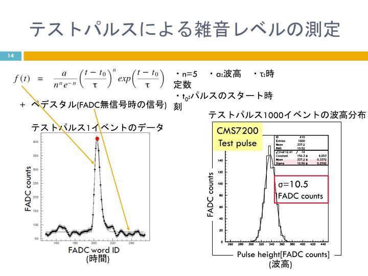 テストパルスによる雑音レベルの測定