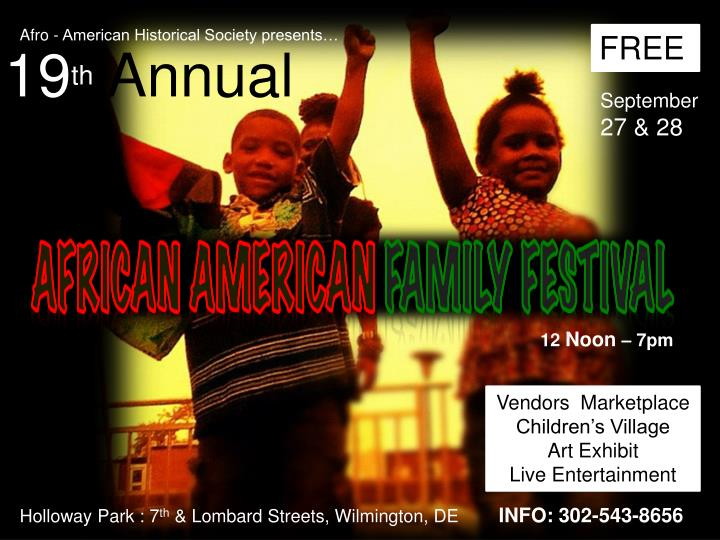 Afro - American Historical Society presents…