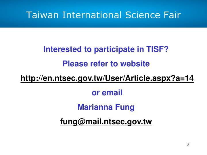 Taiwan International Science Fair
