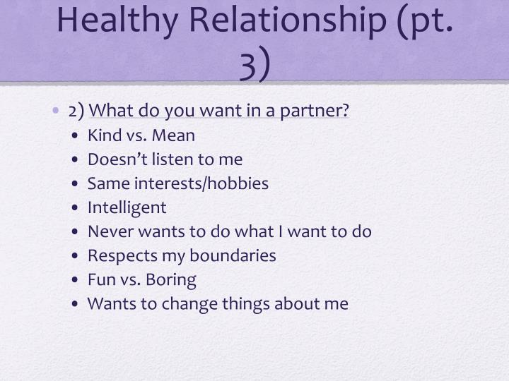 Healthy Relationship (pt.