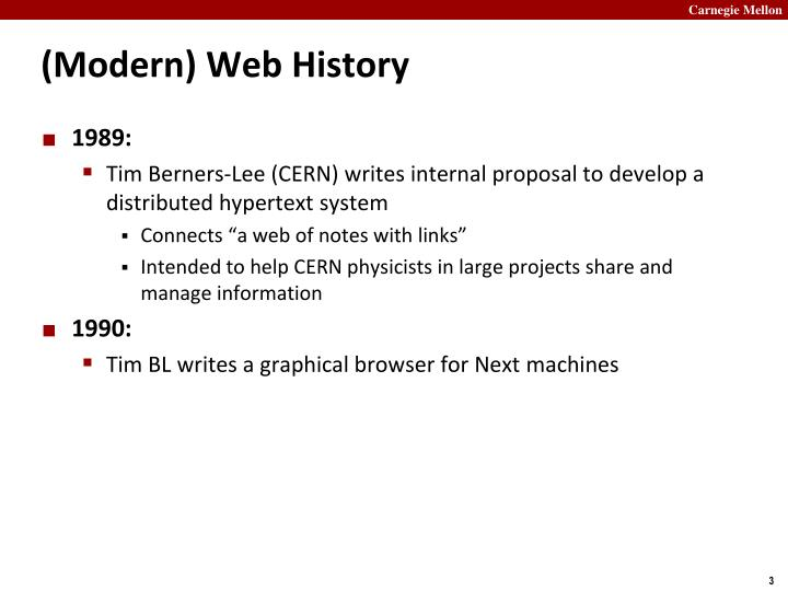 Modern web history