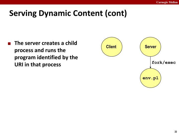 Serving Dynamic Content (cont)