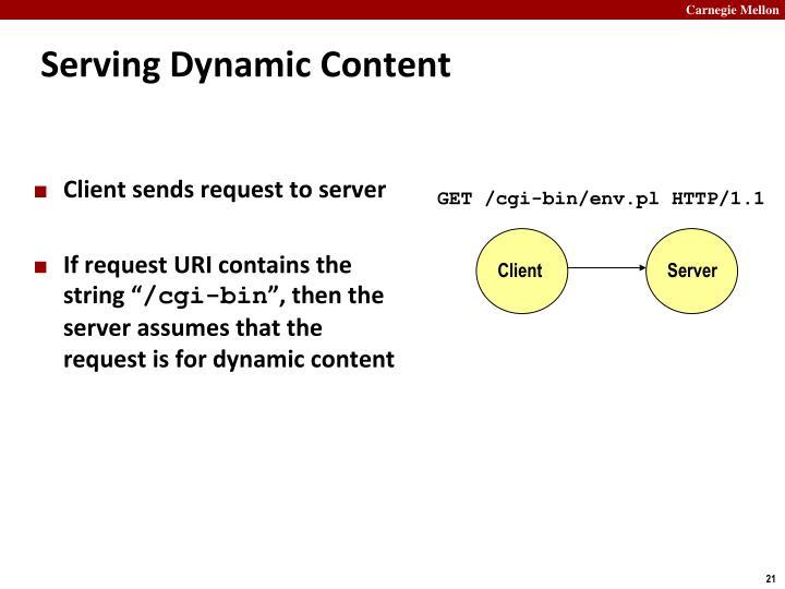 Serving Dynamic Content