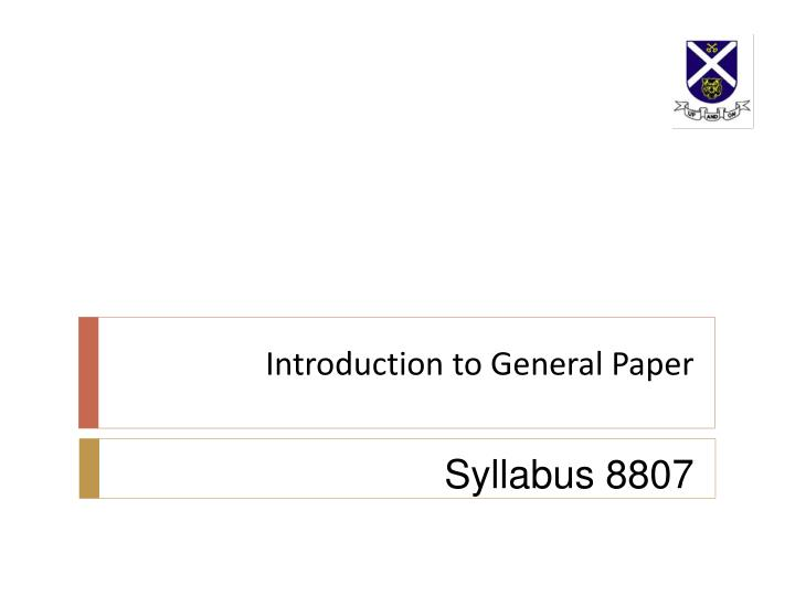 introduction to general paper n.