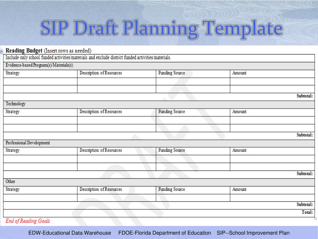 PPT - School Improvement Plan Template Training PowerPoint