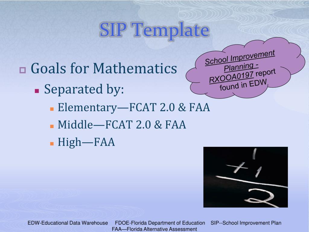 PPT - School Improvement Plan Template Training PowerPoint