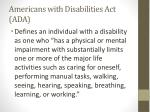 americans with disabilities act ada