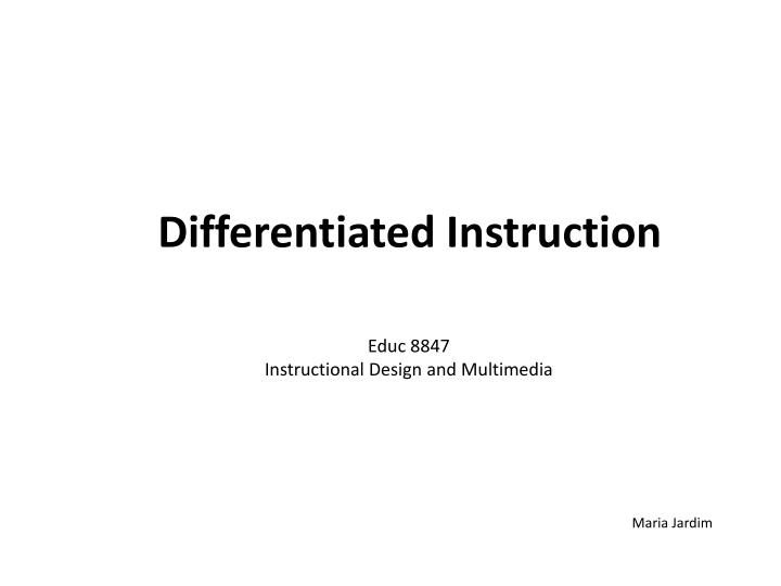 Ppt Differentiated Instruction Powerpoint Presentation Id3245648