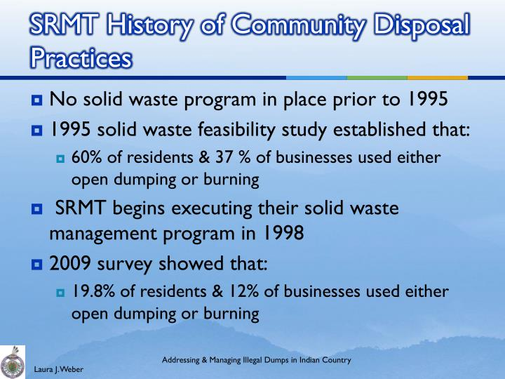 solid waste disposal practices