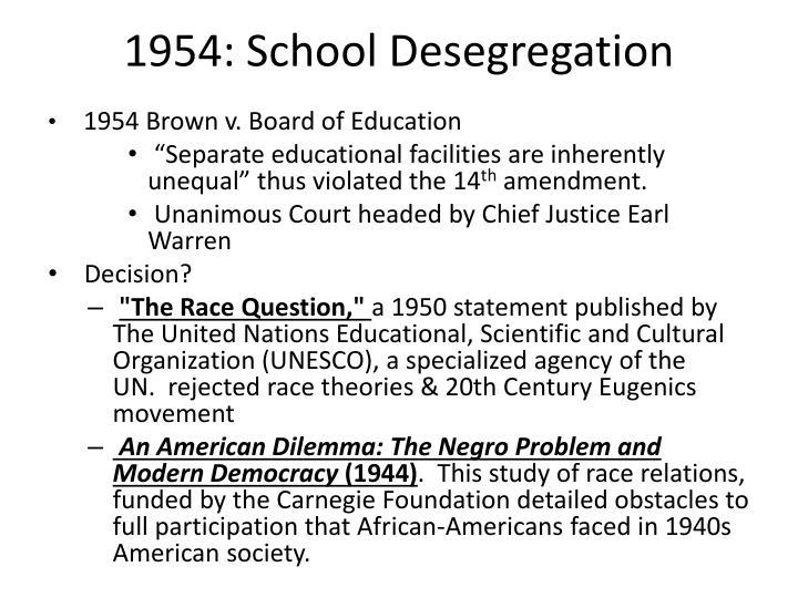 1954: School Desegregation