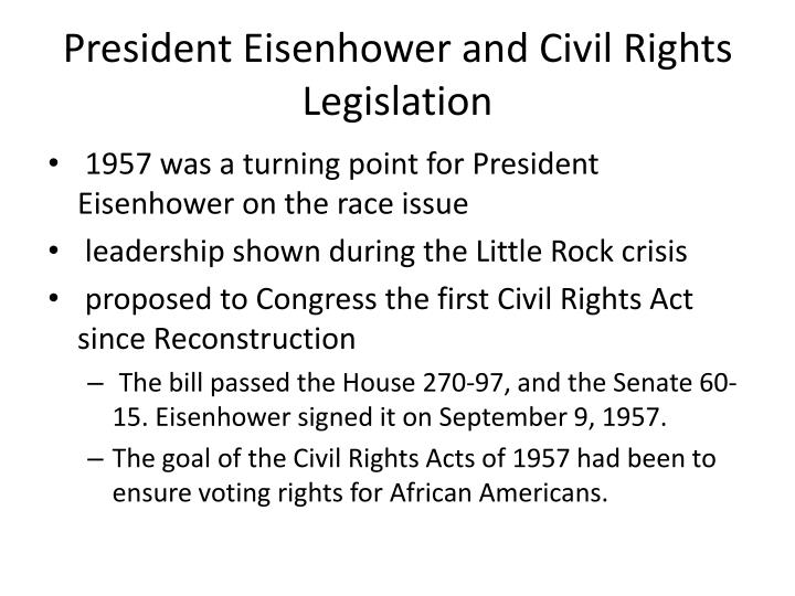 President Eisenhower and Civil Rights Legislation