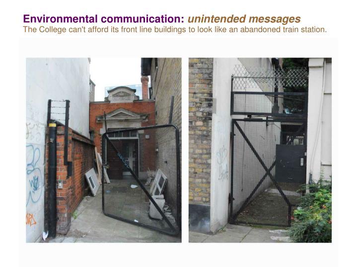 Environmental communication:
