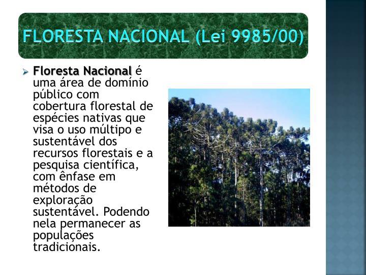 FLORESTA NACIONAL (Lei 9985/00)