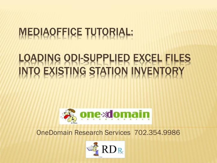 onedomain research services 702 354 9986 n.