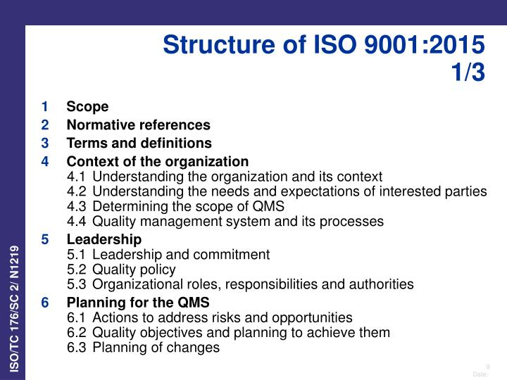 Ppt Iso 9001 2015 Revision Overview General U Sers