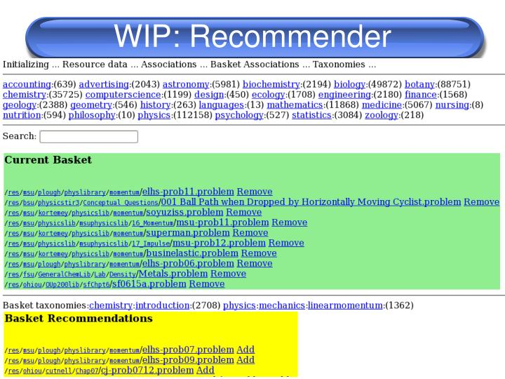 WIP: Recommender