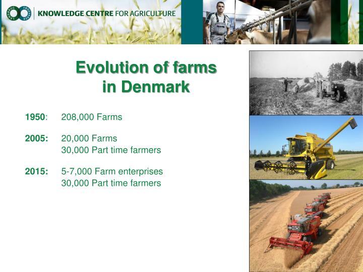 Evolution of farms