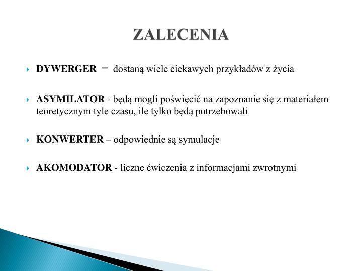 ZALECENIA