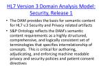 hl7 version 3 domain analysis model security release 1