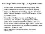 ontological relationships change semantics