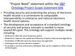 project need statement within the s p ontology project scope statement 646