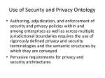 use of security and privacy ontology