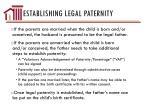 establishing legal paternity