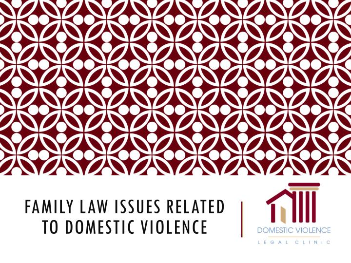 family law issues related to domestic violence n.