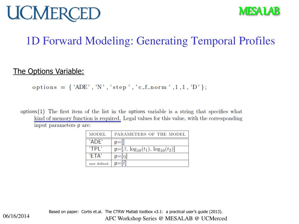 PPT - CTRW MATLAB Toolbox Applied Fractional Calculus
