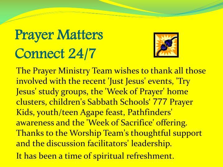 Prayer Matters