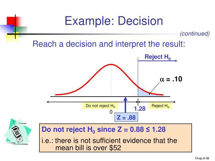 Example: Decision