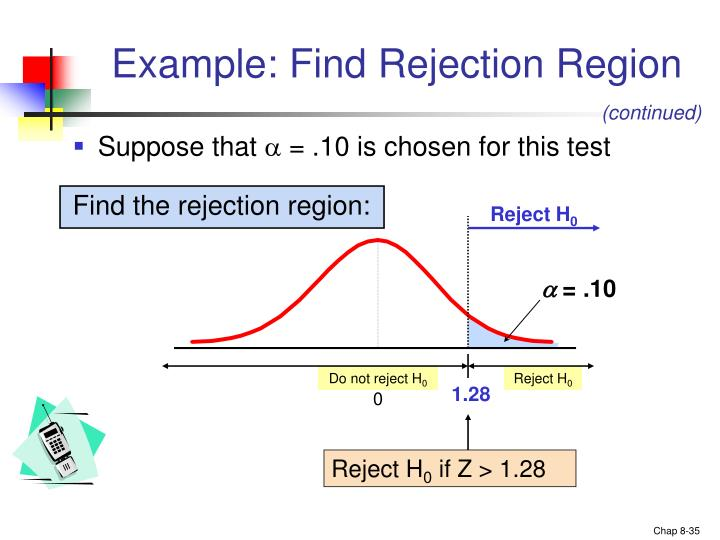 Example: Find Rejection Region