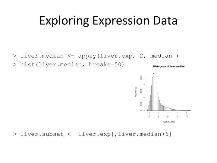 Exploring Expression Data