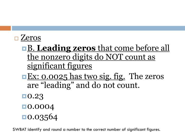 Zeros
