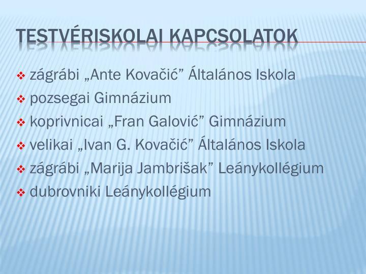 """zágrábi """"Ante Kova"""