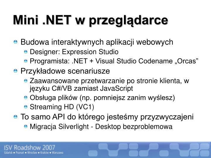 Mini .NET w przeglądarce