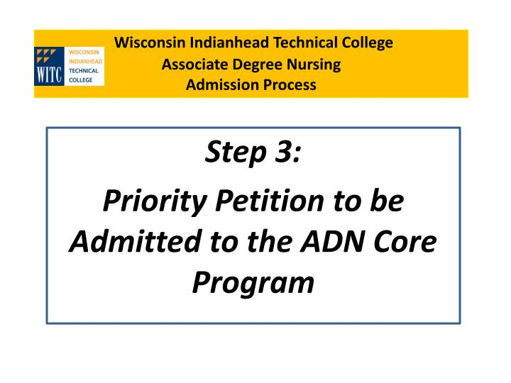 wisconsin indianhead technical college associate degree nursing admission process n.