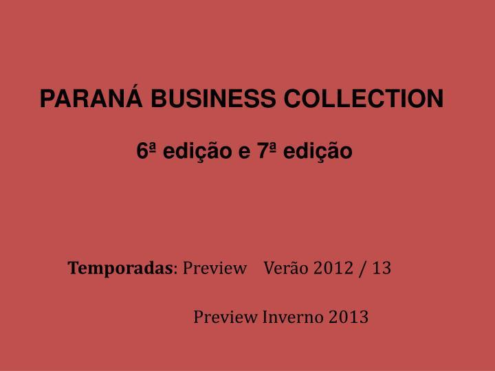 Paran business collection 6 edi o e 7 edi o