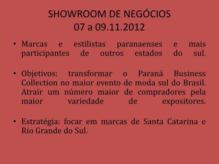 SHOWROOM DE NEGÓCIOS