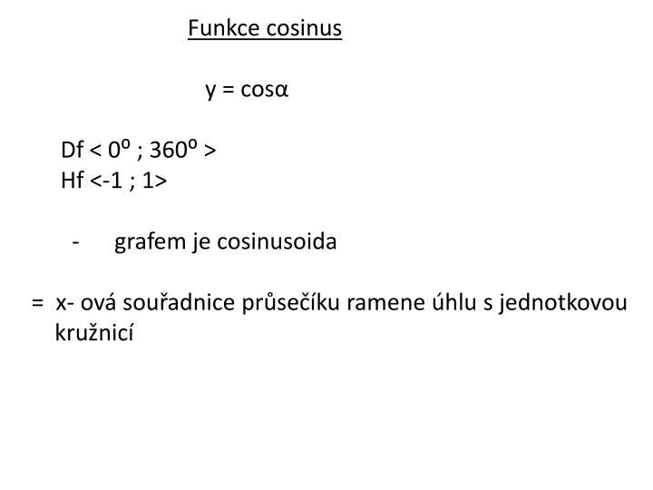 Funkce cosinus