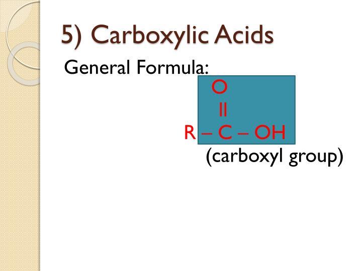 5 carboxylic acids
