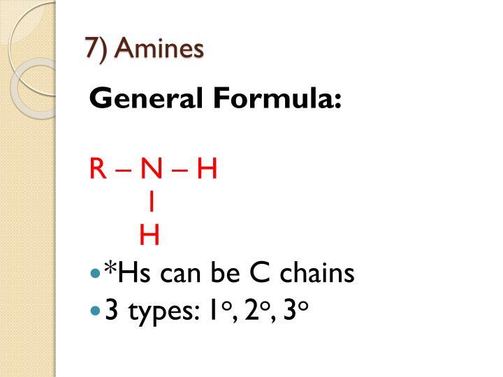 7) Amines