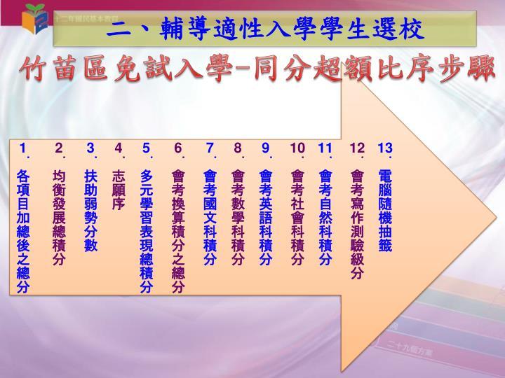 二、輔導適性入學學生選校