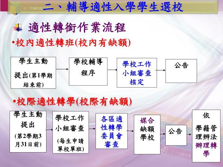 適性轉銜作業流程
