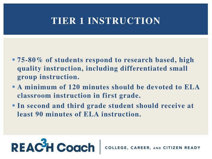 Tier 1 Instruction