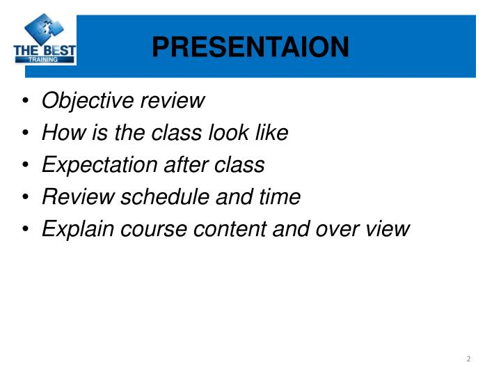 Presentaion