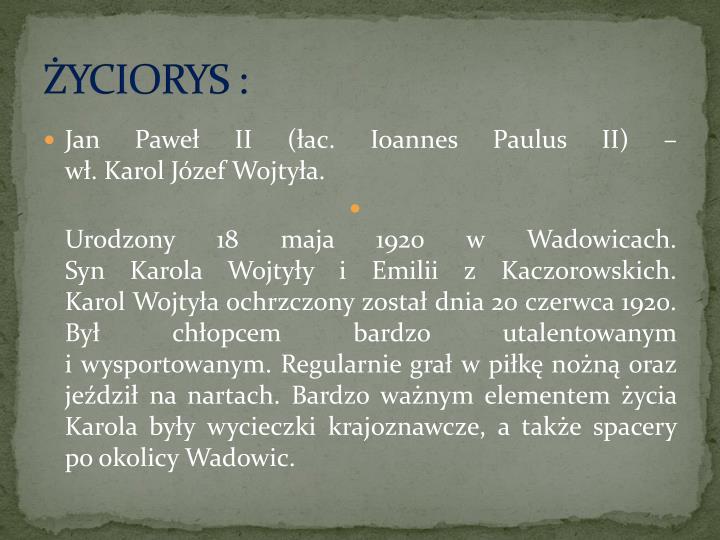 Ppt Jan Paweł Ii Powerpoint Presentation Id3250209