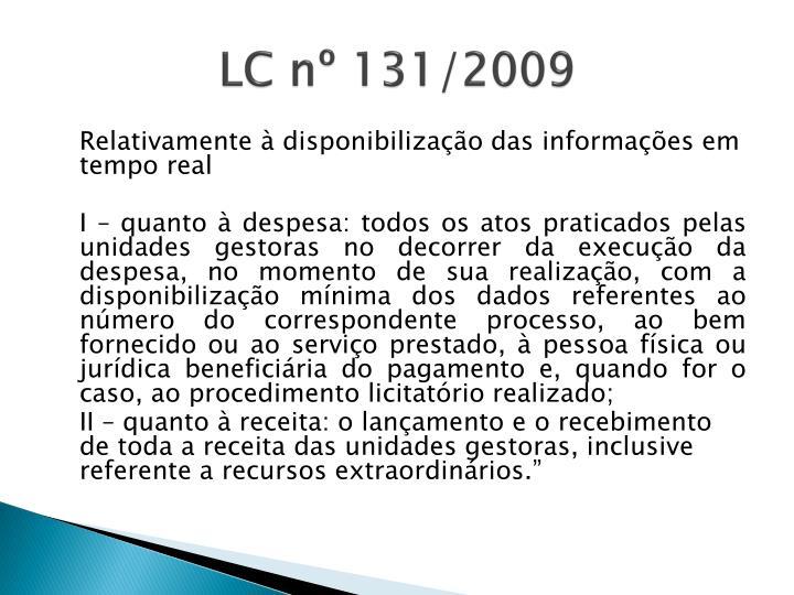 LC nº 131/2009