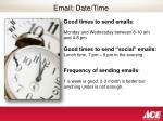 email date time