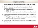 subject line tips